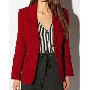 [Talbots] Brick Red Stretch Corduroy Blazer Jacket